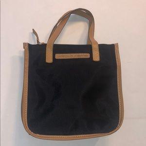 United Colors of Benetton mini bag nylon black&tan